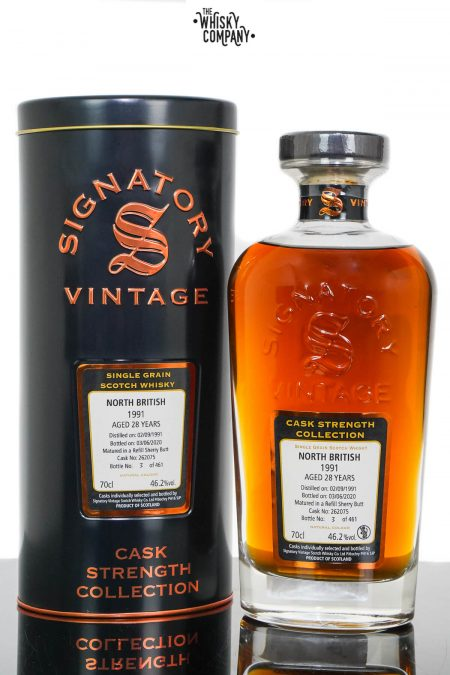 North British 1991 Aged 28 Years Cask Strength Single Grain Scotch Whisky - Signatory Vintage (700ml)