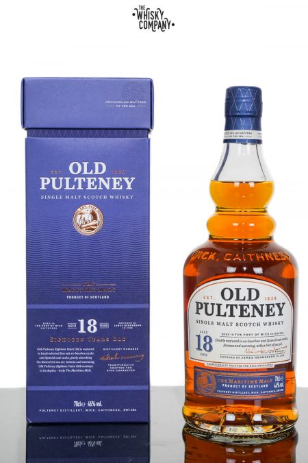 Old Pulteney Aged 18 Years Highland Single Malt Scotch Whisky (700ml)