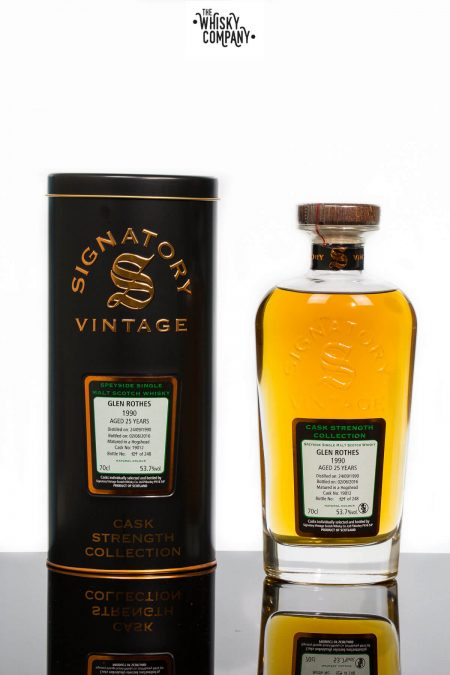 Glen Rothes 1990 Aged 25 Years Single Malt Scotch Whisky - Signatory Vintage (700ml)