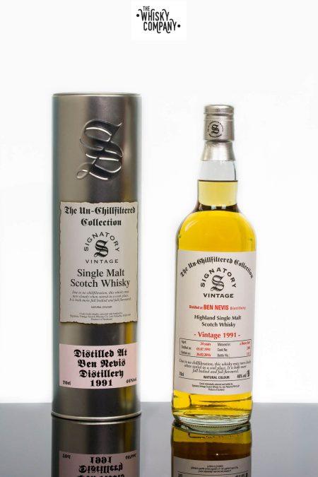 Ben Nevis 1991 Aged 24 Years Single Malt Scotch Whisky - Signatory Vintage (700ml)