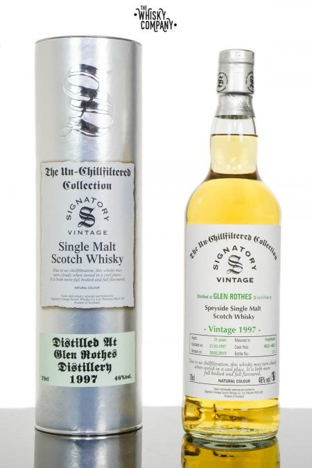 Glen Rothes 1997 Aged 21 Years UCF Speyside Single Malt Scotch Whisky - Signatory Vintage (700ml)