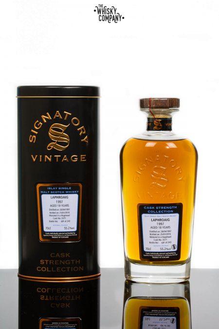 Laphroaig 1997 Aged 18 Years Single Malt Scotch Whisky - Signatory Vintage (700ml)