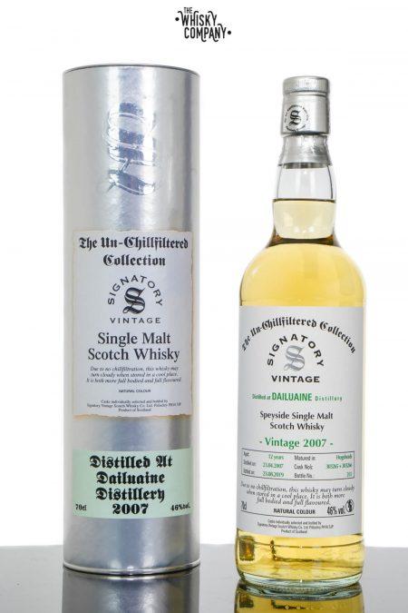 Dailuaine 2007 Aged 12 Years UCF Speyside Single Malt Scotch Whisky - Signatory Vintage (700ml)