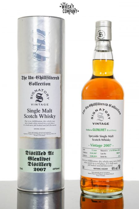 Glenlivet 2007 UCF Aged 12 Years Speyside Single Malt Scotch Whisky - Signatory Vintage (700ml)