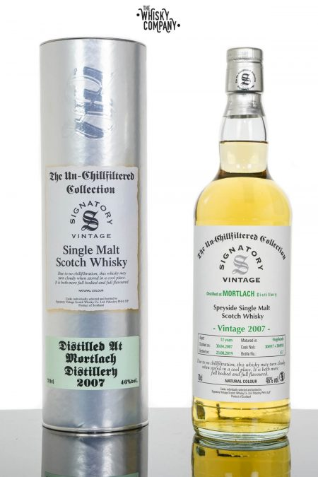Mortlach 2007 Aged 12 Years UCF Speyside Single Malt Scotch Whisky - Signatory Vintage (700ml)