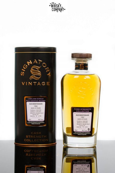 Auchentoshan 1992 Aged 23 Years Single Malt Scotch Whisky - Signatory Vintage (700ml)