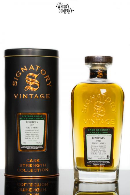 Benrinnes 1995 Aged 21 Years Single Malt Scotch Whisky - Signatory Vintage (700ml)