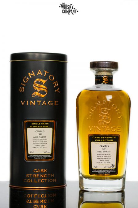 Cambus 1991 Aged 25 Years Single Grain Scotch Whisky - Signatory Vintage (700ml)