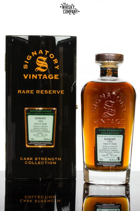 Glenlivet 1974 Aged 41 Years Single Malt Scotch Whisky - Signatory Vintage (700ml)