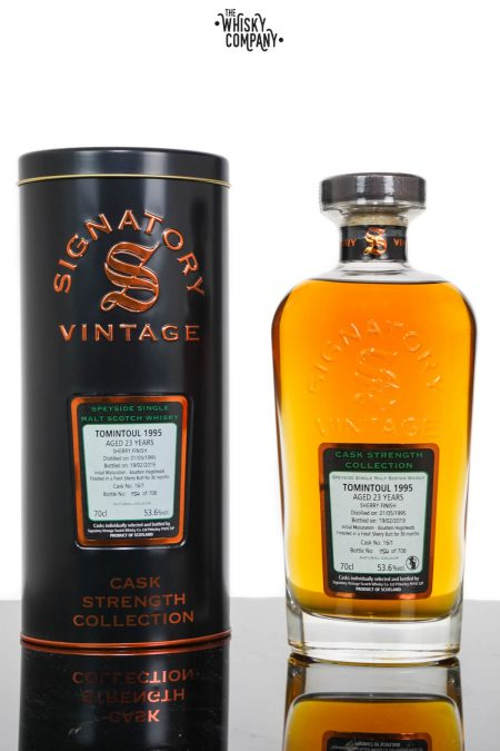 Tomintoul 1995 Aged 23 Years Speyside Single Malt Scotch Whisky - Signatory Vintage (700ml)