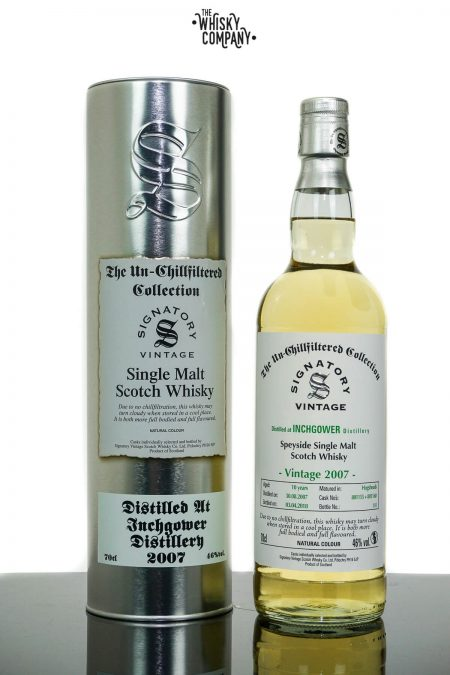 Inchgower 2007 Aged 10 Years Single Malt Scotch Whisky - Signatory Vintage (700ml)