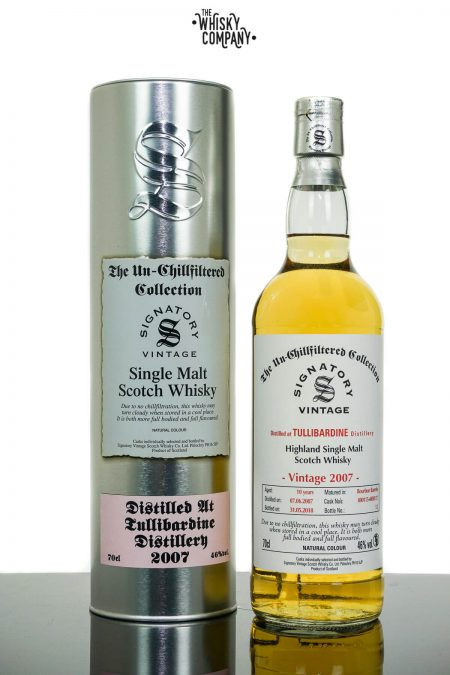 Tullibardine 2007 Aged 10 Years Single Malt Scotch Whisky - Signatory Vintage (700ml)