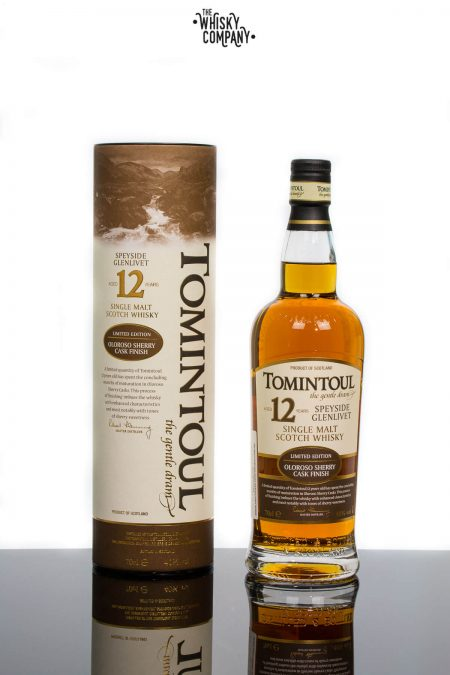 Tomintoul Aged 12 Years Oloroso Sherry Cask Finish Speyside Single Malt Scotch Whisky (700ml)