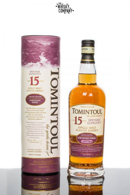 Tomintoul Aged 15 Years Portwood Finish Speyside Single Malt Scotch Whisky (700ml)