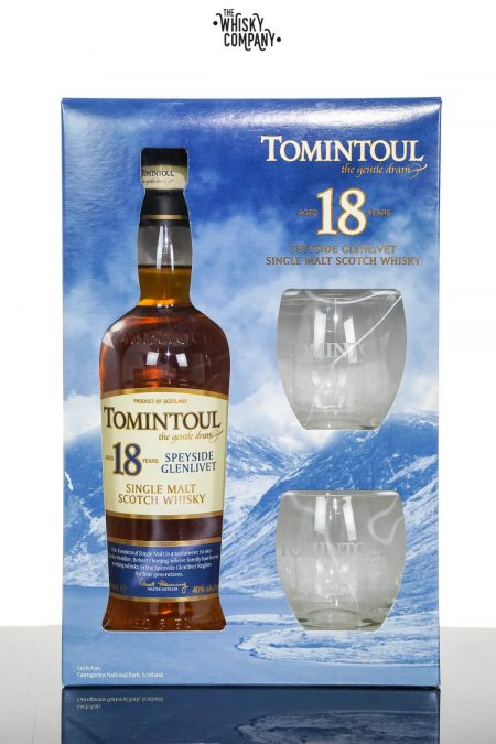 Tomintoul Aged 18 Years Speyside Single Malt Scotch Whisky - Gift Pack (700ml)