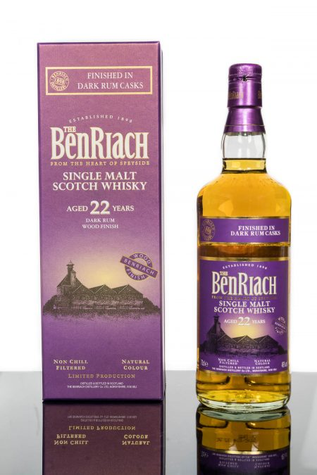 BenRiach Aged 22 Years Finished In Dark Rum Casks Single Malt Scotch Whisky (700ml)