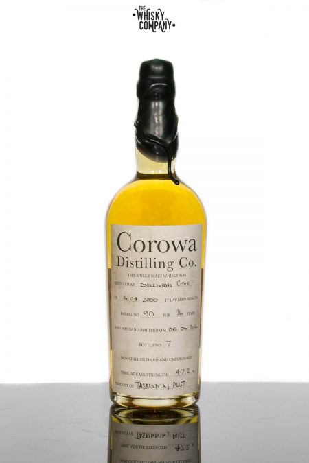 Sullivans Cove (Barrel 90 Bottle 7) Aged 16 Years Bottled by Corowa Distillery Tasmanian Single Malt Whisky (700ml)
