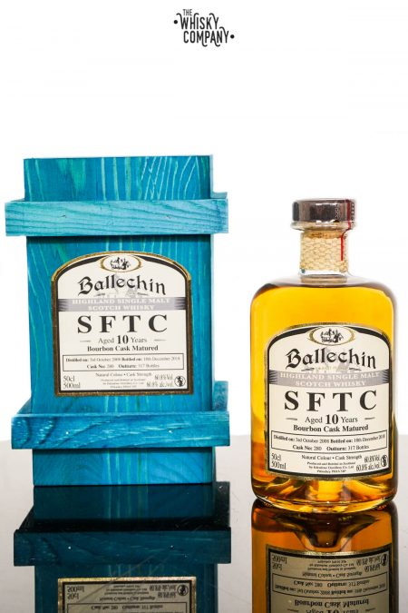 Ballechin 2008 SFTC Aged 10 Years Bourbon Cask Matured Single Malt Scotch Whisky (500ml)