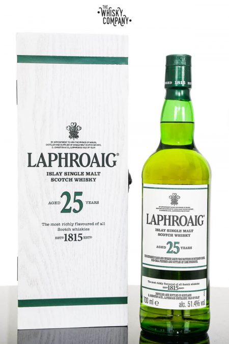 Laphroaig 25 Years Old Islay Single Malt Scotch Whisky (700ml)