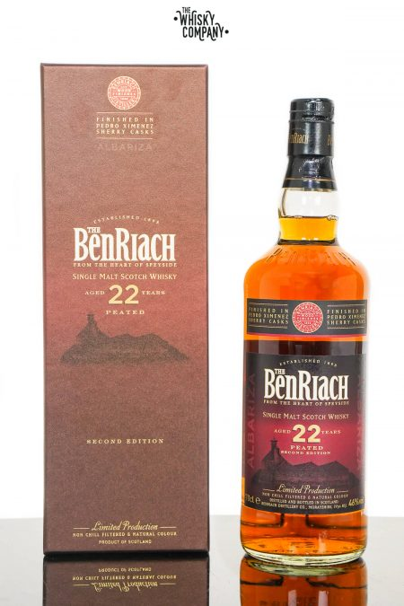 BenRiach Aged 22 Years Peated Albariza Single Malt Scotch Whisky - Second Edition (700ml)