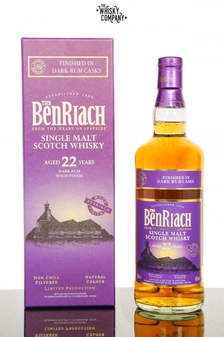 BenRiach Aged 22 Years Finished In Dark Rum Casks Single Malt Scotch Whisky (700ml)