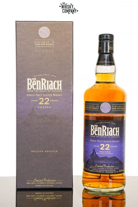 BenRiach Dunder Aged 22 Years Peated Dark Rum Finish (2nd Edition) Single Malt Scotch Whisky (700ml)