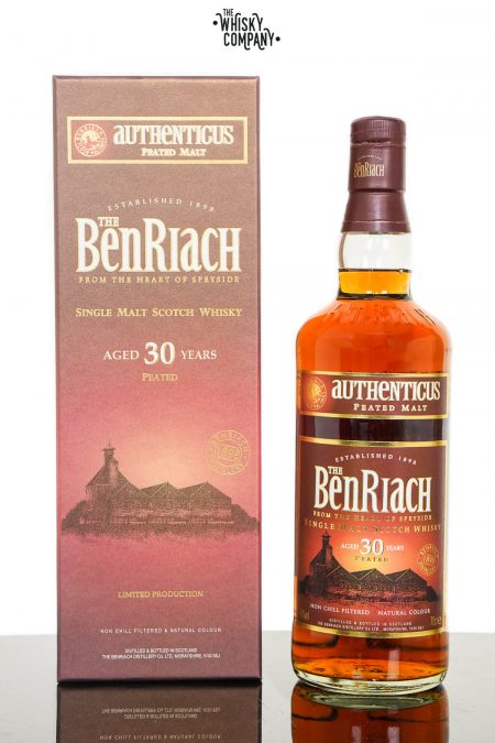 BenRiach Aged 30 Years Authenticus Peated Speyside Single Malt Scotch Whisky (700ml)