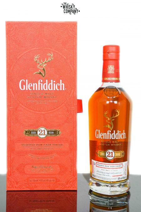 Glenfiddich Aged 21 Years Reserva Rum Cask Finish Single Malt Scotch Whisky (700ml)