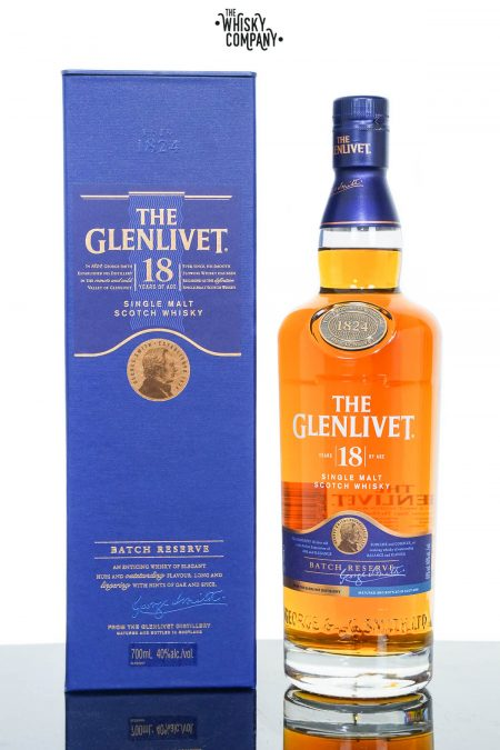 The Glenlivet 18 Year Old Speyside Single Malt Scotch Whisky (700ml)