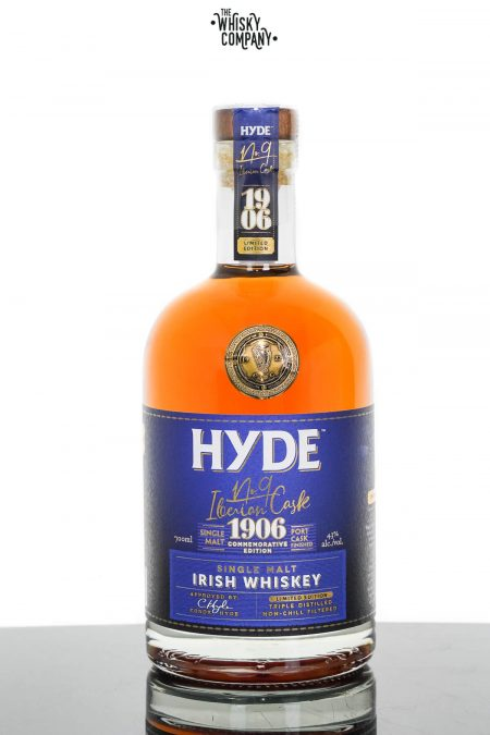 Hyde No.9 Iberian Cask Port Cask Finished Single Malt Irish Whiskey (700ml)