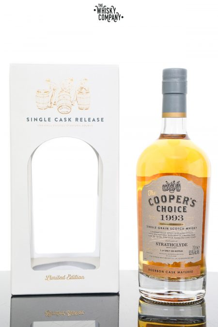 Strathclyde 1993 Aged 26 Years Single Grain Scotch Whisky - The Cooper's Choice (700ml)