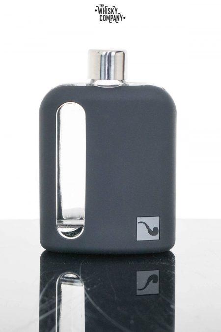 Ragproper Black Silicone Glass Whisky Flask (240ml)
