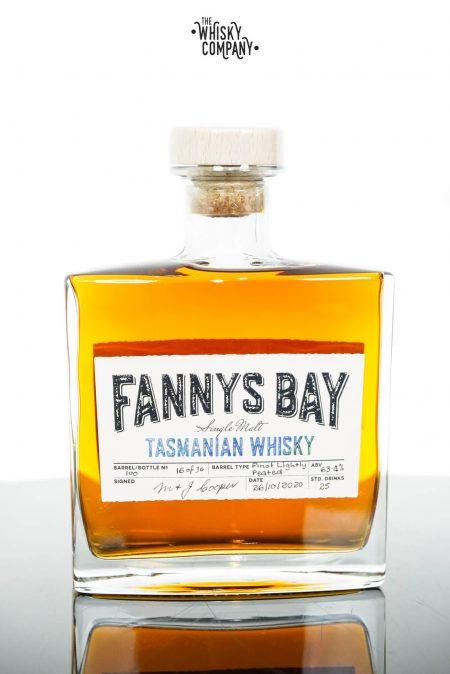Fannys Bay Pinot Wine Cask Matured Lightly Peated Tasmanian Single Malt Whisky - Cask #100 (500ml)
