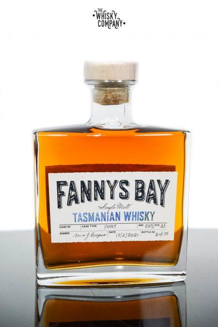 Fannys Bay Port Cask Matured Cask Strength Tasmanian Single Malt Whisky - Barrel #55 (500ml)