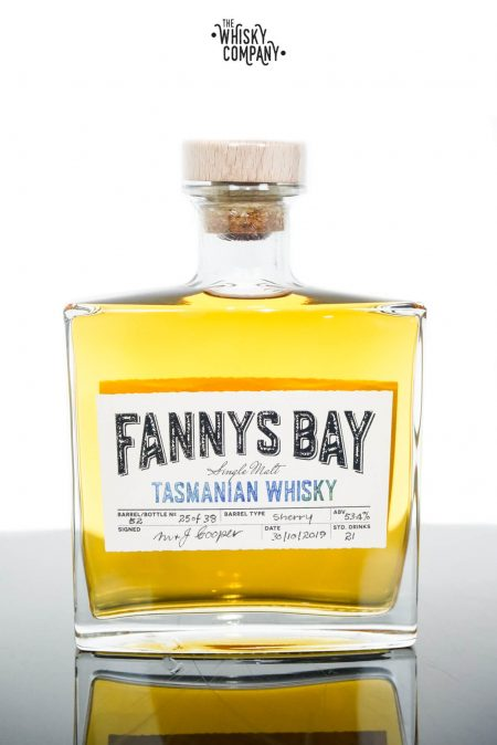 Fannys Bay Sherry Cask Matured Cask Strength Tasmanian Single Malt Whisky - Barrel #52 (500ml)
