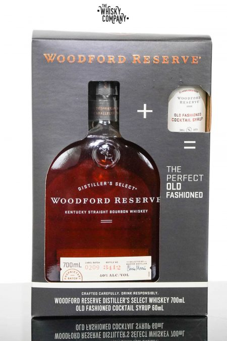 Woodford Reserve Distiller's Select Kentucky Straight Bourbon Whiskey - PLUS Cocktail Syrup (700ml)