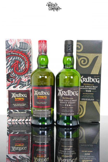 Ardbeg Scorch & Ardbeg Ten Islay Single Malt Scotch Whisky - Ardbeg Day Release 2021 (2 x 700ml)