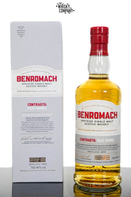Benromach 2009 Contrasts Peat Smoke Speyside Single Malt Scotch Whisky (700ml)
