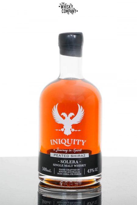 Iniquity Solera Peated Shiraz Australian Single Malt Whisky (500ml)