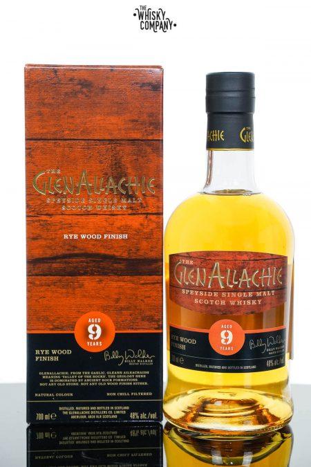 GlenAllachie Aged 9 Years Rye Wood Finish Single Malt Scotch Whisky (700ml)