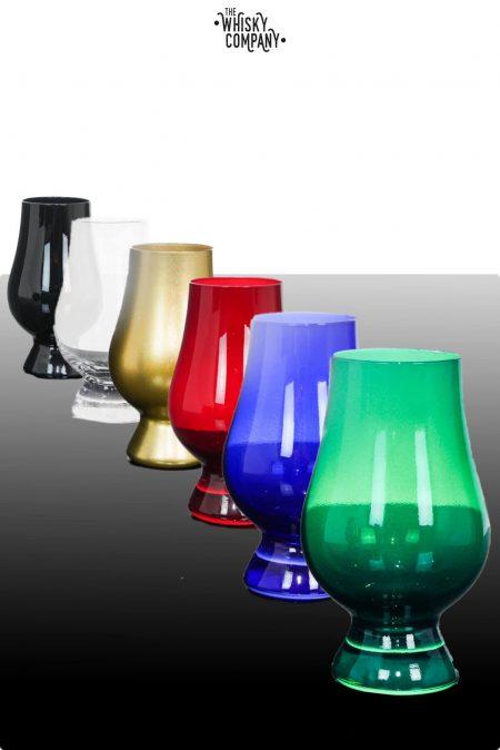 Glencairn Crystal 6 Coloured 'Whisky Tasting' Glasses Limited Edition in Presentation Box