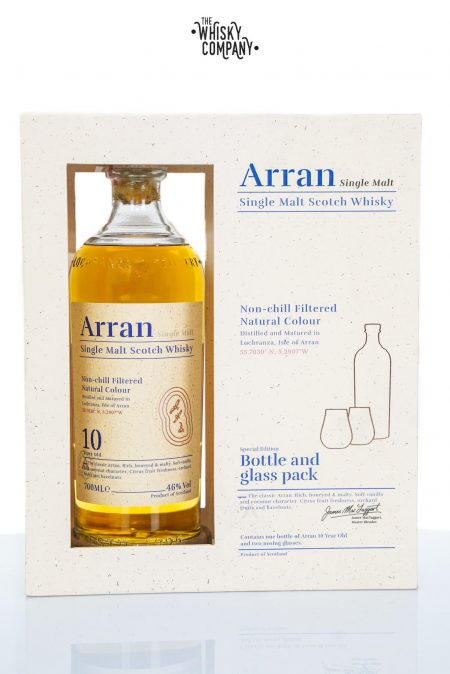 Arran 10 Years Old Island Single Malt Scotch Whisky Glass Pack (700ml)