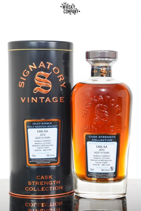 Caol Ila 2010 Aged 10 Years Single Malt Scotch Whisky - Signatory Vintage (700ml)