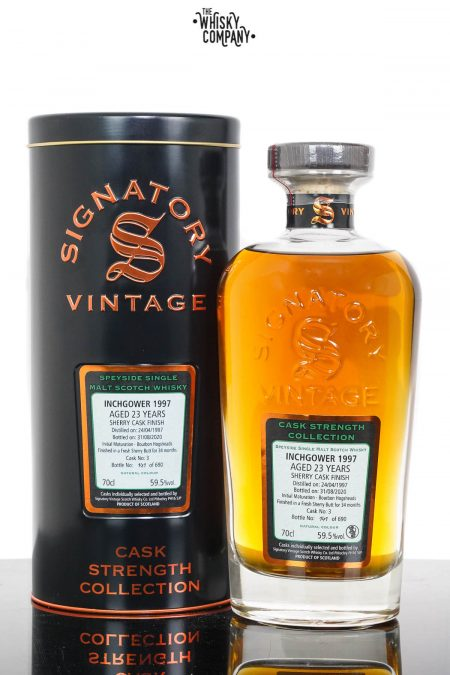 Inchgower 1997 Aged 23 Years Single Malt Scotch Whisky - Signatory Vintage (700ml)