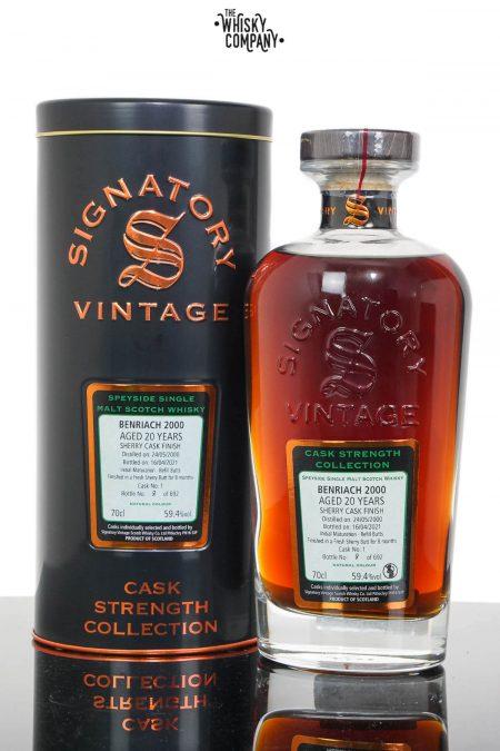 Benriach 2000 Aged 20 Years Speyside Single Malt Scotch Whisky - Signatory Vintage (700ml)