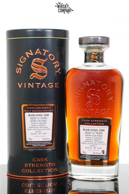 Blair Athol 2008 Aged 12 Years Single Malt Scotch Whisky - Signatory Vintage (700ml)