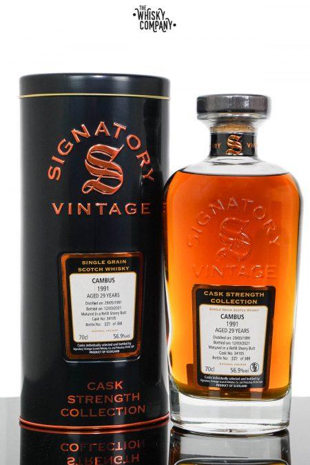 Cambus 1991 Aged 29 Years Single Grain Scotch Whisky - Signatory Vintage (700ml)