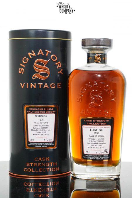 Clynelish 1995 Aged 25 Years Highland Single Malt Scotch Whisky - Signatory Vintage (700ml)