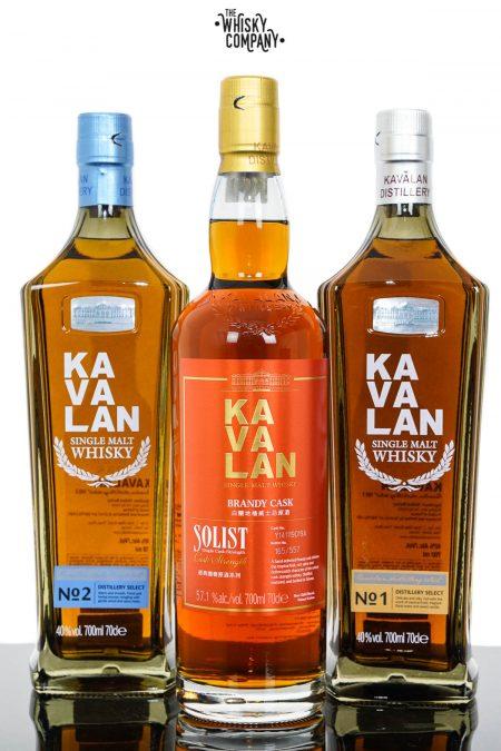Kavalan Solist Brandy Cask 3PK Taiwanese Single Malt Whisky (3 x 700ml)